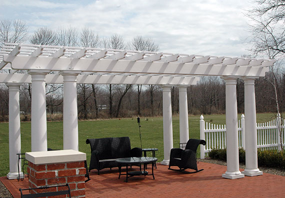 Garden structures provide shelter from storms and a great place to entertain. Browse through the photos from Peabody Landscape Group's arbors, trellises and pergolas.
