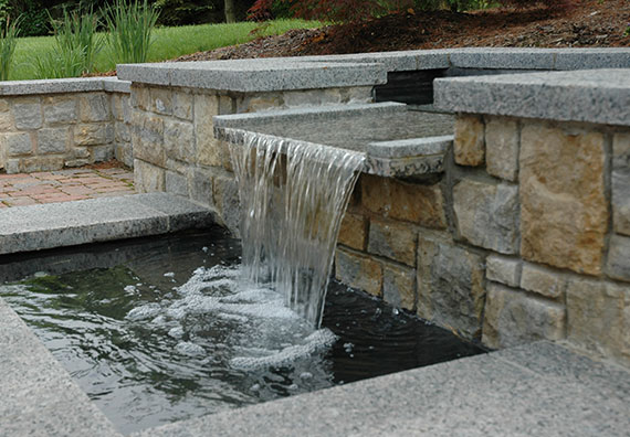 Add a natural noise and attract birds and insects with a water feature in your landscape design. Peabody Landscape Group creates waterfalls, ponds, fountains, streams and more.